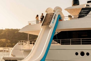 The multi-storey Funair slide is one for the whole family